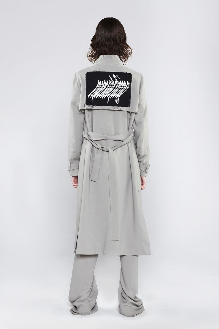 EYE CATCHING TRENCH COAT GRAY x MISBEHAVE!