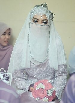 Hijabi and niqabi bride. #PerfectMuslimWedding.com