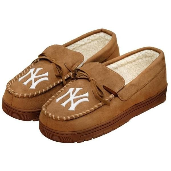 New York Yankees MLB Mens Moccasin Slippers