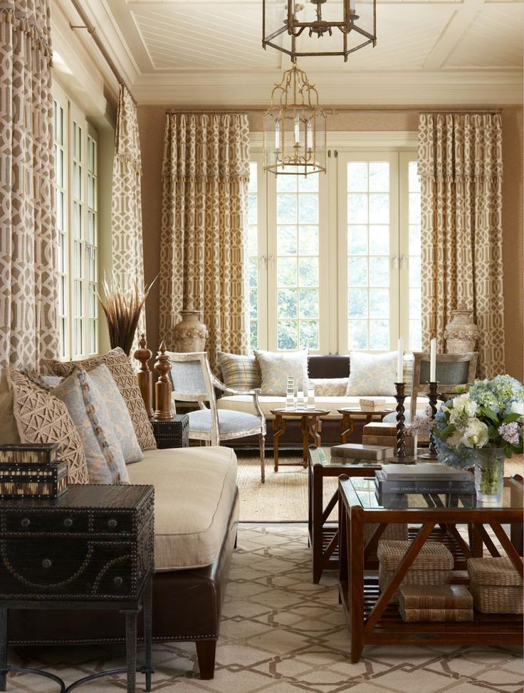 A Pair Of Niermann Weeks Annecy Arm Chairs In This Living Room Designed By  Cindy Rinfret