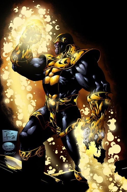 Thanos the mad Titan. I have this as a tattoo! THE ultimate villain.