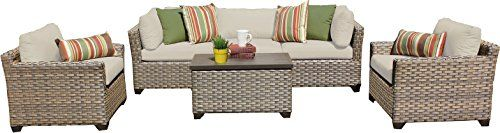 TK Classics MONTEREY06b 6 Piece Monterey06B Outdoor Wicker Patio Furniture Set Beige *** You can get additional details at the image link.