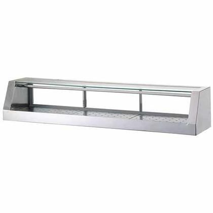 """TSSC5 60"""" Remote Sushi Case with Removable Tempered Glass Top Stainless Steel Finished Mirror Removable Front Door and Removable Back Door"""