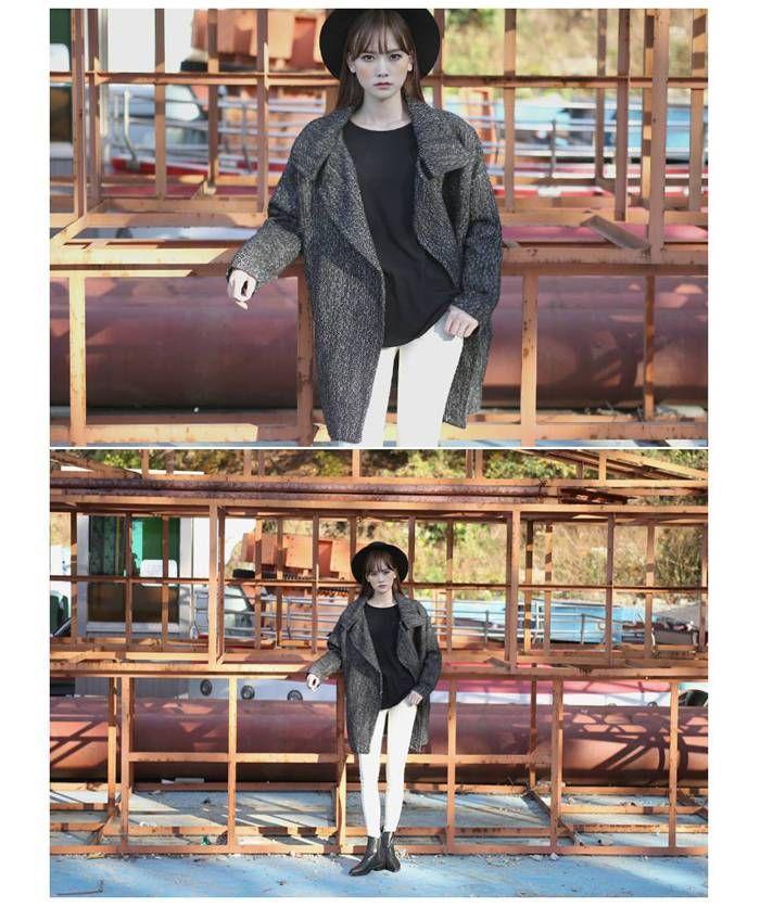 スタンドカラーコート //ピーコート 大きいサイズスタンドカラー コート ミディアム丈|オシャレ製作所