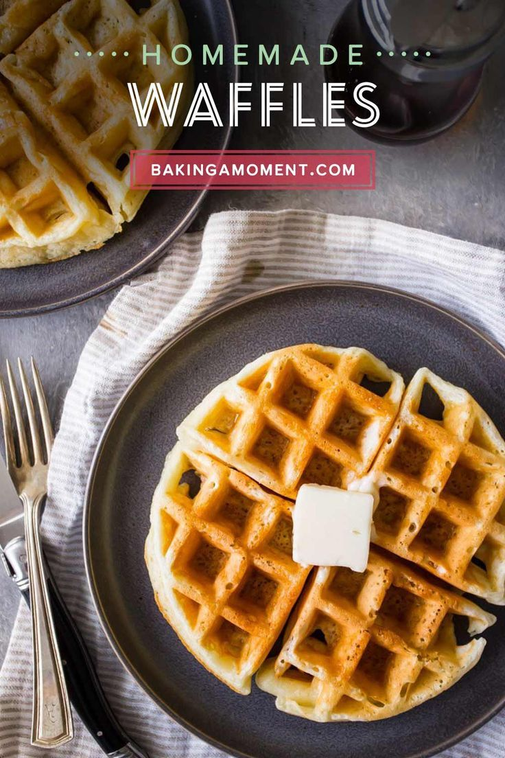 Pin By Allie Baking A Moment On Waffles In 2020 Waffles Recipe Homemade Homemade Waffles Homemade Waffle Recipe Easy