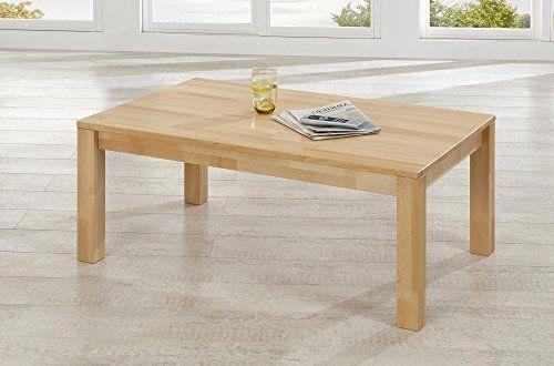 Couchtisch Karina Buche massiv geölt 70x110 cm Tisch Beisteltisch Sofa Coutsch