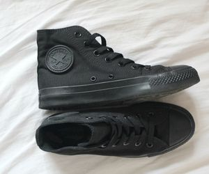 all black converse. I bought these yesterday. and 'm in LOVE with them!