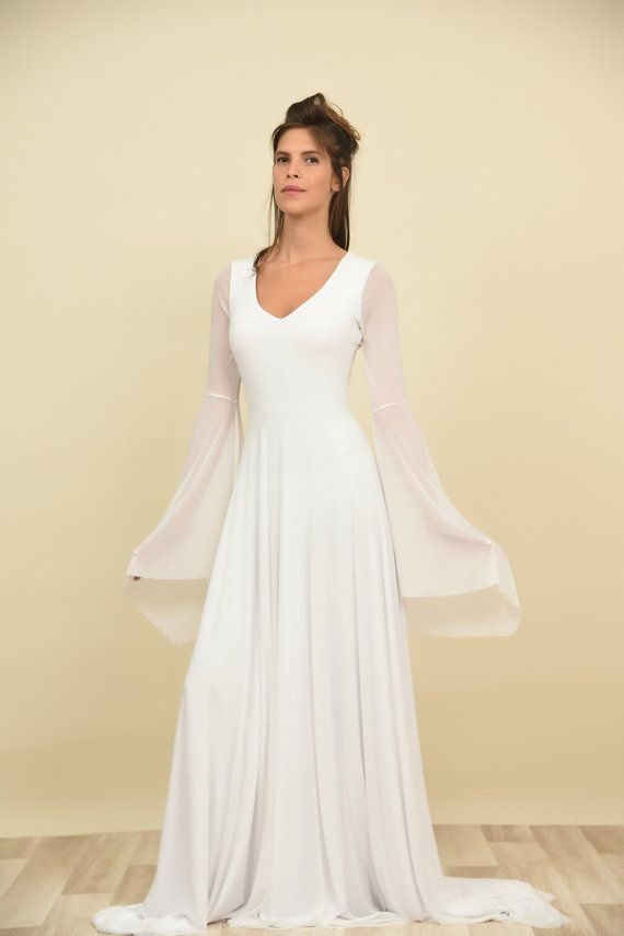 dc9b5dd89bb6 Winter wedding dress with long sleeves fall bridal gown | Etsy ...