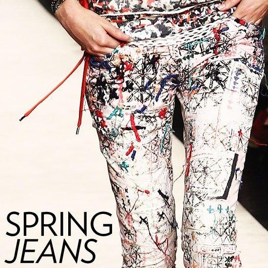 джинсы с рисунками