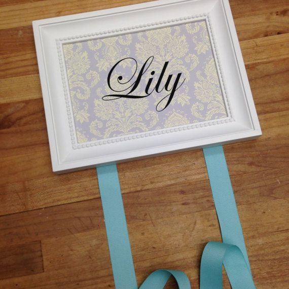 Personalized Bow Holder by ForLittleBuggies on Etsy