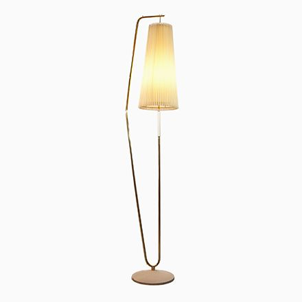 Stehlampe mit Schirm in Creme, 1950er Jetzt bestellen unter: https://moebel.ladendirekt.de/lampen/stehlampen/standleuchten/?uid=8c9a50c5-1195-5777-8a6d-73f039919afc&utm_source=pinterest&utm_medium=pin&utm_campaign=boards #stehlampen #leuchten #lampen