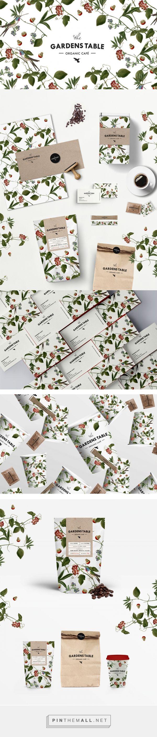 The GARDENS TABLE organic café, branding, graphic design