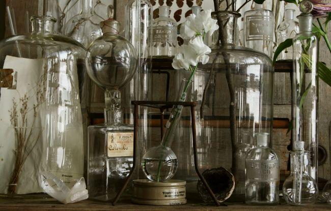 アンティーク実験器具 フランス フラスコ ブロカント 【Antiques Truffle 京都 鹿ケ谷】