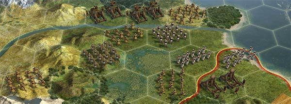 Civilization 5 hex based gameplay. Interesting movement mechanics for differing units and factions.
