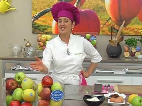 Eva Arguiñano:..Bizcocho de manzana con frutos secos