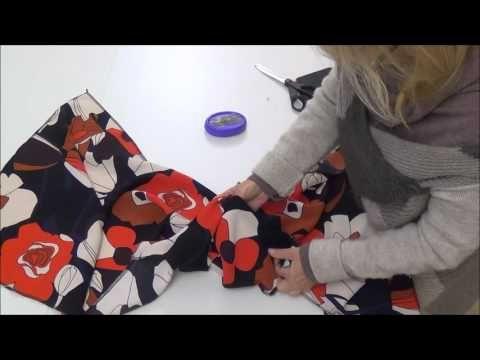 Come cucire le spalline - scollatura -giromanica con la paramontura - YouTube