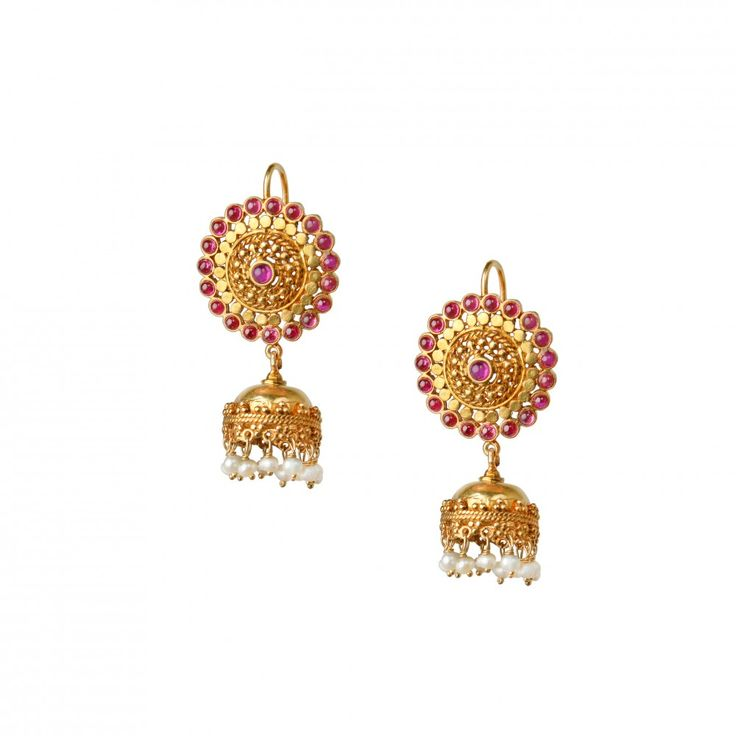 Mohh - South Indian Style Gold Jhumki