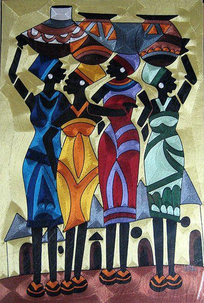 Mujeres portando vasijas