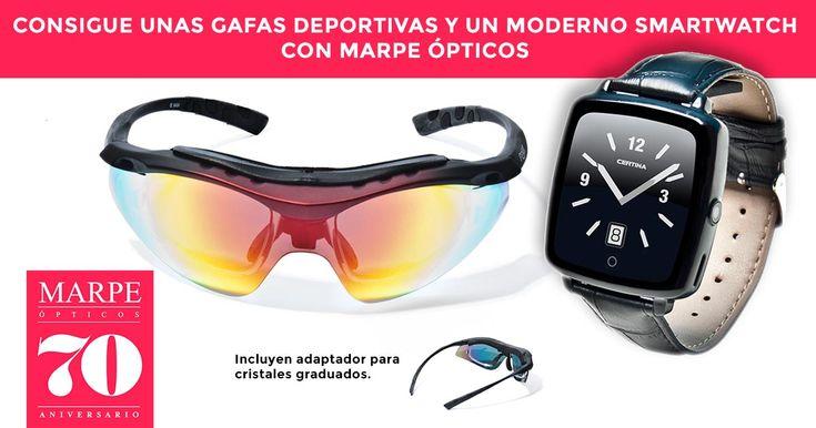 Consigue unas Gafas deportivas y un Smartwatch con Marpe Ópticos