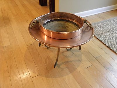 Antique Vintage Solid Copper Middle Eastern Fire Pit Or