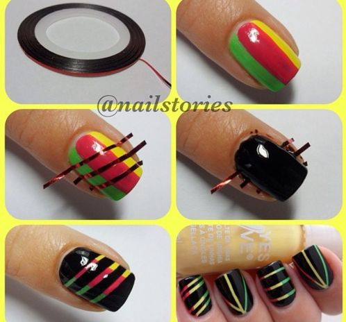cartoons-acrylic-colorful-glitter-polka-dot-floral-easy-step-nail-design-ideas-12-cute-designs-for-nails1