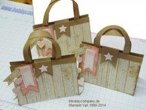 Geschenkverpackung Tasche mit dem Stempel Hardwood