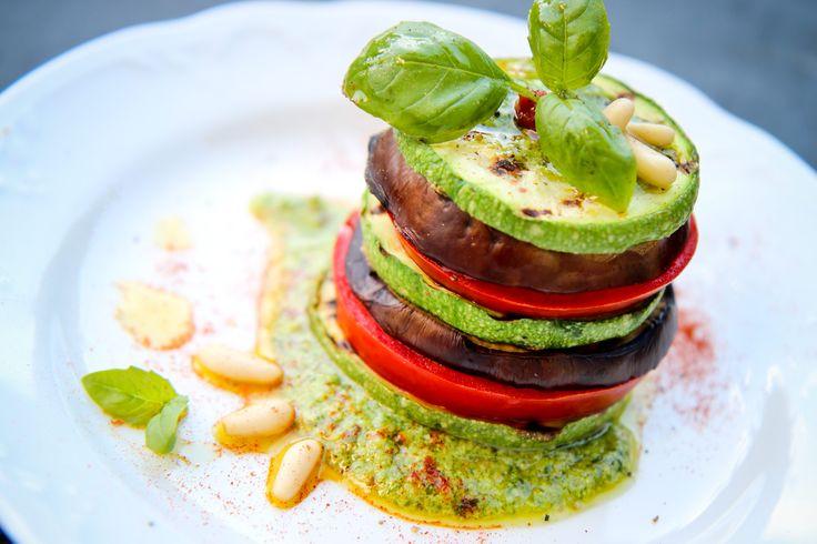 Verdure grigliate al pesto fresco