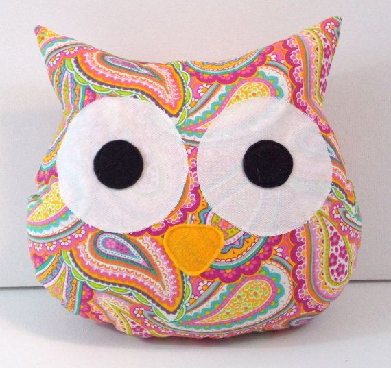 Pink Paisley Owl Pillow - Owl - Nursery - Girl's Room Decor - Owl Nursery - Toddler Room - Baby Shower Gift - Home Decor - Large on Etsy, $13.00