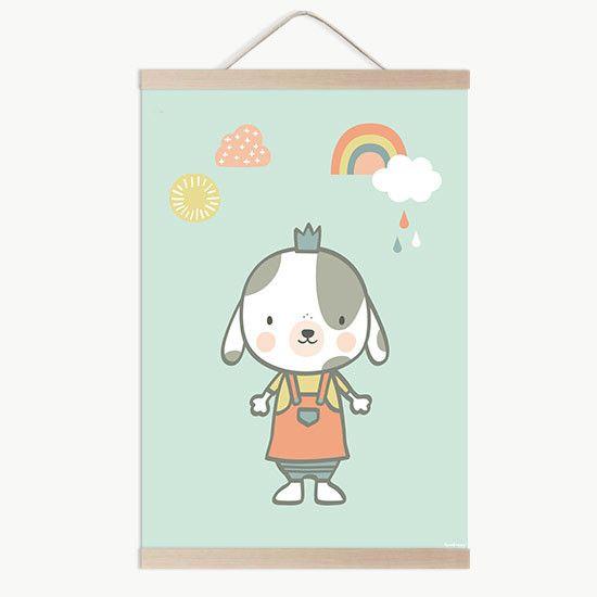 Lámina bebe Perrita princesa con muchas ganas de que te la quedes para ir a conocer a tu bebe a la venta en la tienda online de vinilos infantiles.