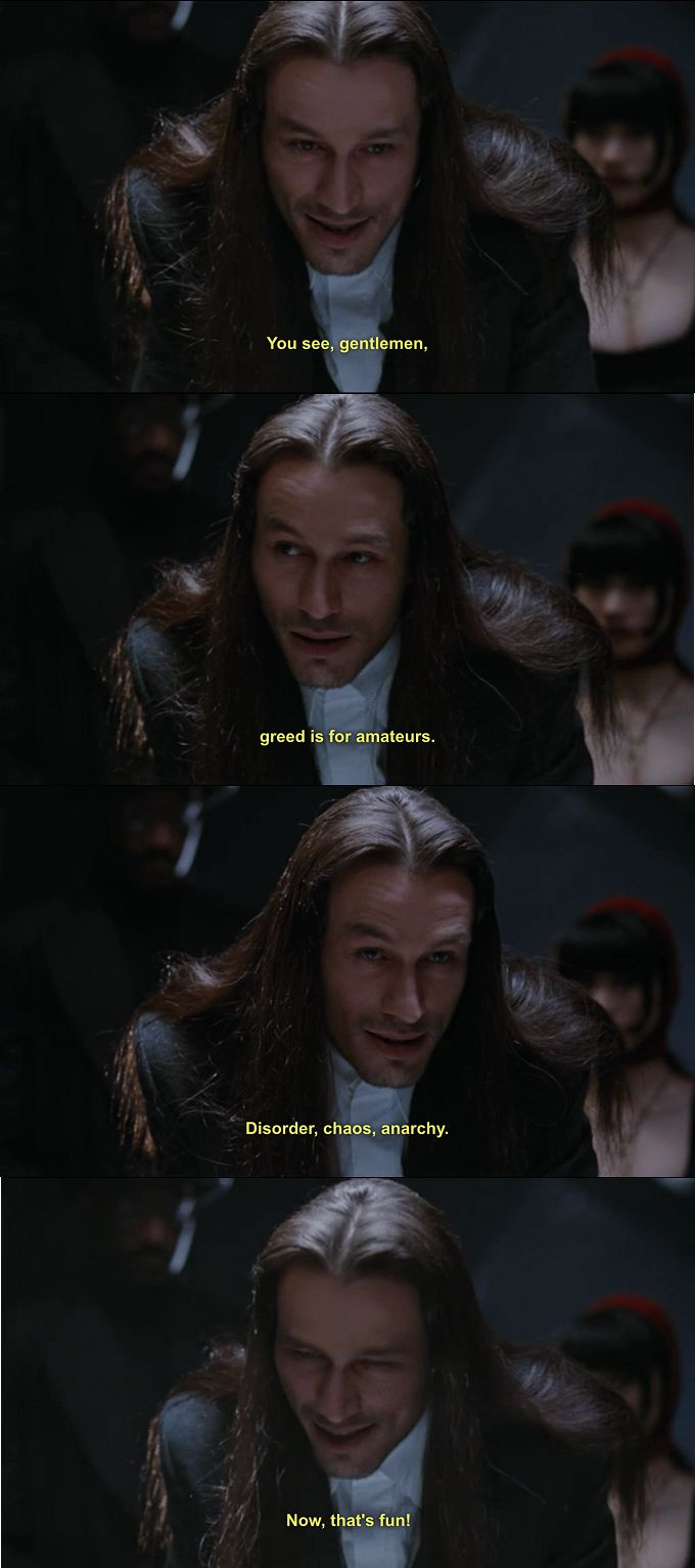 Michael Wincott as Top Dollar in The Crow, with some observations.(sounds similar to the joker)