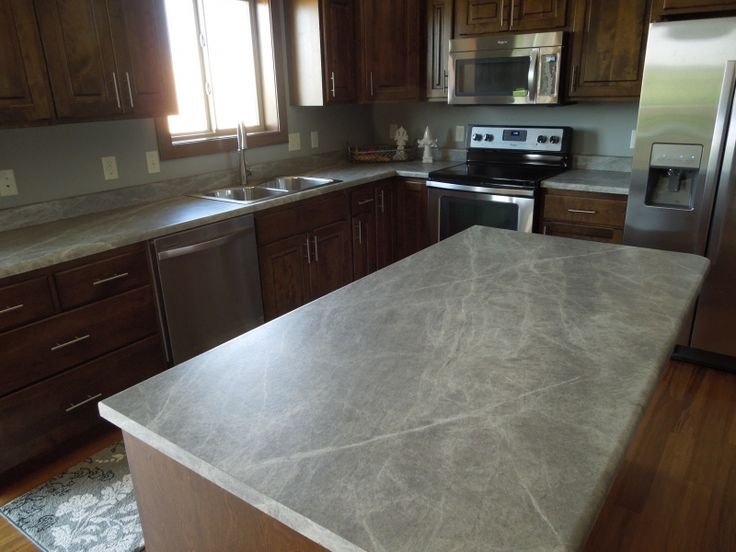 A Kitchen Island And Perimeter Using 3459 Soapstone Sequoia 180fx By Formica Group Don Laminate Countertopskitchen