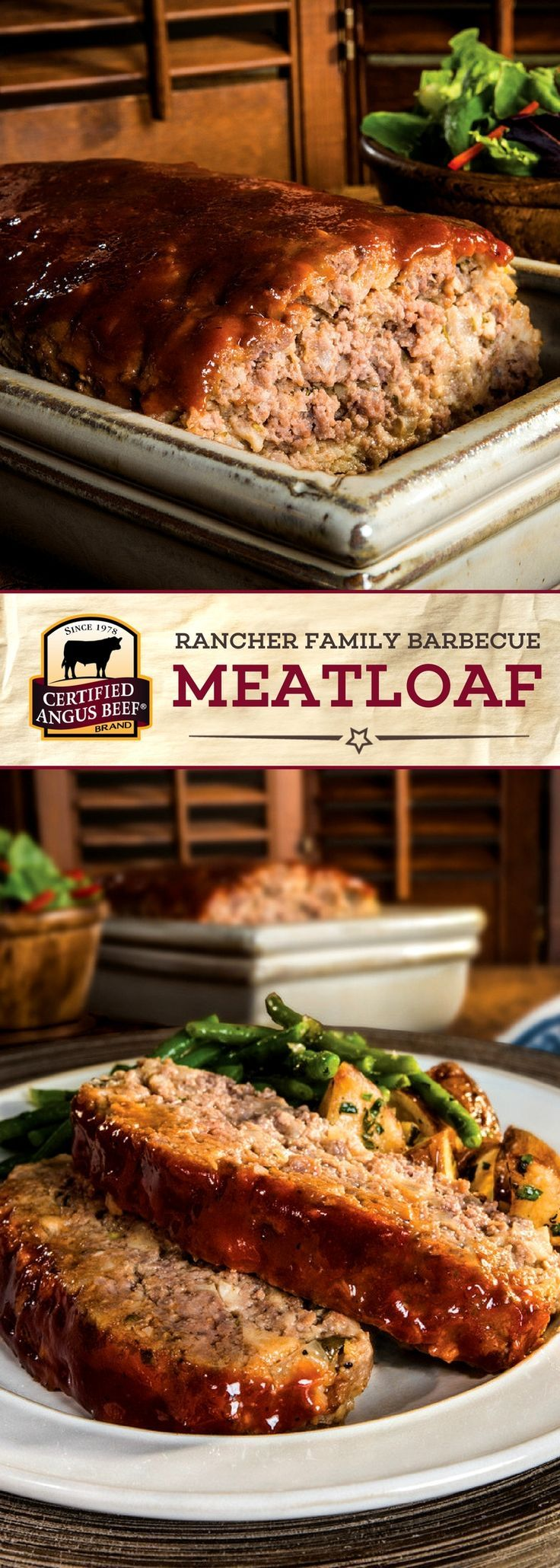 Certified Angus Beef®️️️️️ brand Rancher Family Barbecue Meatloaf is an EASY recipe that your family will LOVE! Barbecue sauce and Dijon mustard bring out the deep flavors of this lean ground beef meatloaf.