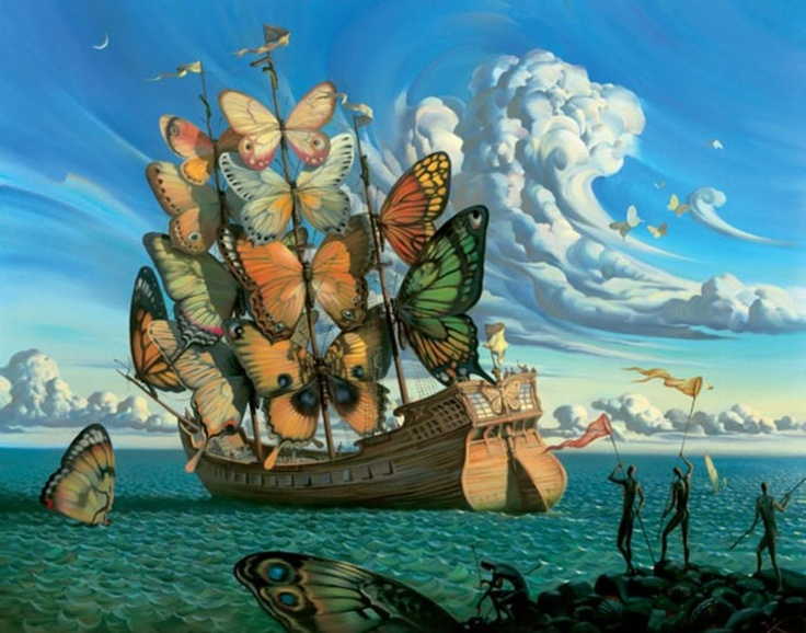 Magic worlds of Russian Dali - Vladimir Kush. Souce: vladimirkush.com #russia #art