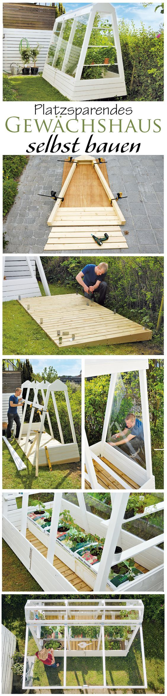 Ein Gewächshaus muss nicht immer riesengroß sein. Wir zeigen den Bau eines platzsparenden Gewächshauses, welches auch in kleinen Gärten einen Platz findet. (Top Ideas Diy)