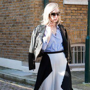 Blaue Blusen - So trägt man sie | ELLE