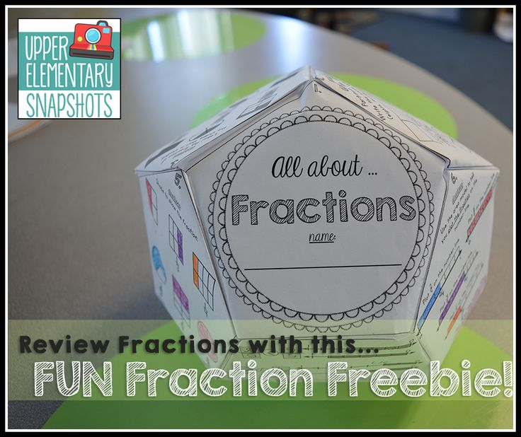 Upper Elementary Snapshots: Fun Fraction Review Project