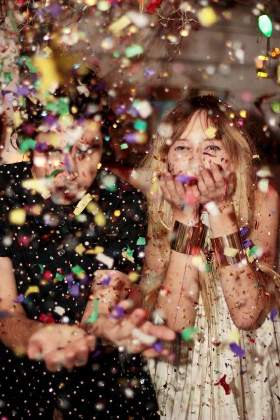 If you venue allows it, confetti on the dance floor is a whole lot of fun! Larger, rough cut squares in bright colours and metallics will create truly fabulous photos.