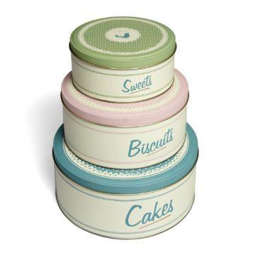Pantry Design Cake Tins Set of 3