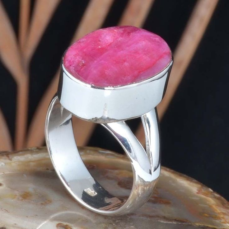 SIMPLE DESIGN 925 SOLID STERLING SILVER NEW RUBY RING 10.15g DJR11446 SZ-10 #Handmade #Ring