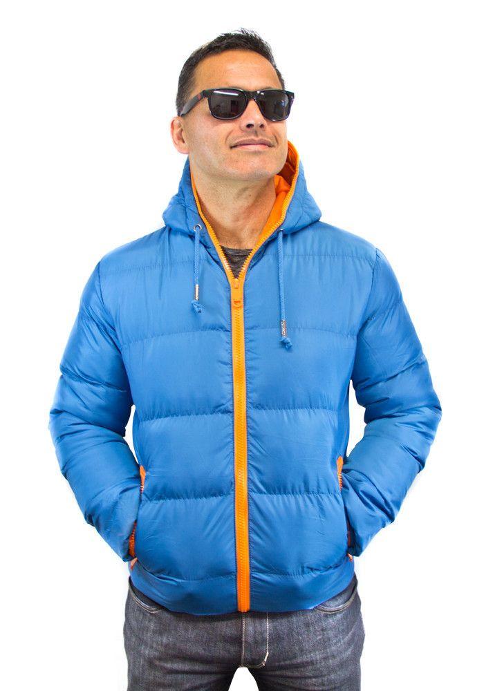 Unisex Lake blue jacket with an orange lining   $59.99 (NZD)   boodlesbuys