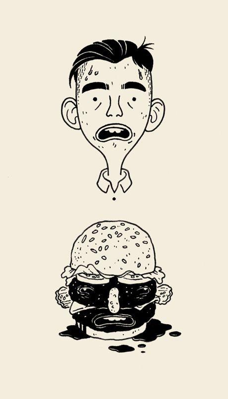 self portrait as a cheeseburger - Julian Callos