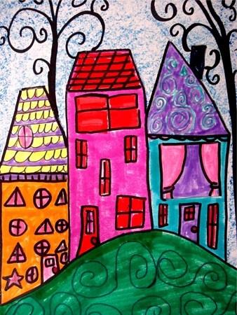 Houses-line, shape