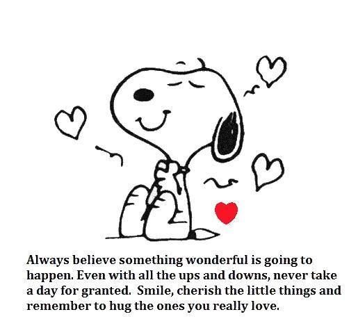 <3 snoopy!  And some good advice.