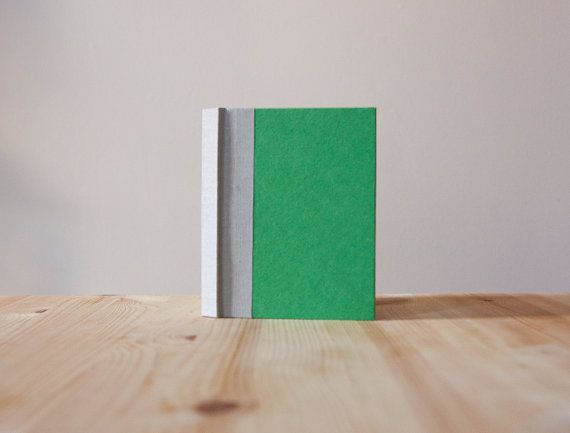 Small Green and Grey Hardcover Notebook  Journal by knotbooks