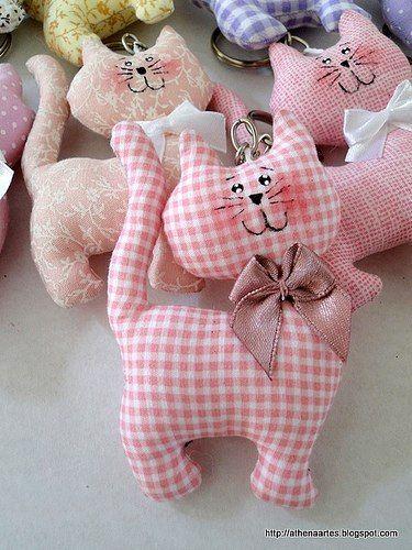 Текстильные котики. Выкройка (Шьем игрушки)   Журнал Вдохновение Рукодельницы