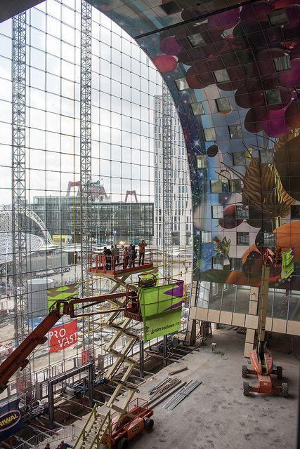 Markthal frontside under construction   Flickr - Photo Sharing!