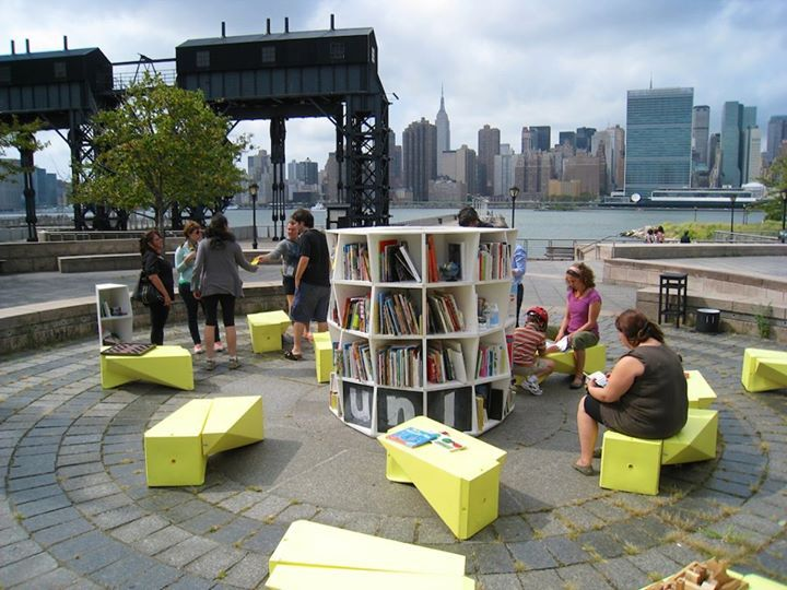 The Uni, a portable reading room for public space.