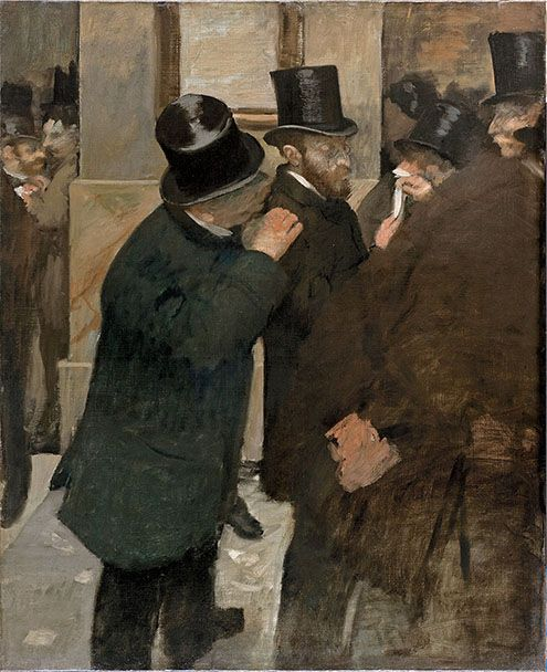 Edgar Degas (French, 1834–1917)  Portraits at the Stock Exchange, 1878–79