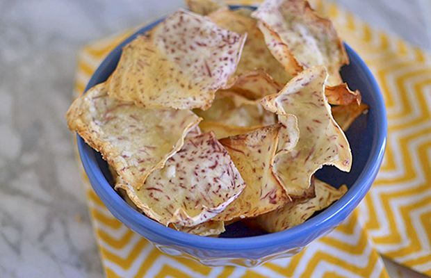 Homemade Taro Chips- 12 Recipes for Healthy Homemade Chips - Life by DailyBurn