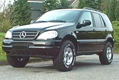 Mercedes ML W163 lifted with 315-75-16